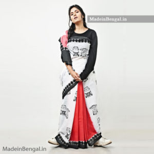 MonoChrome Minion Saree