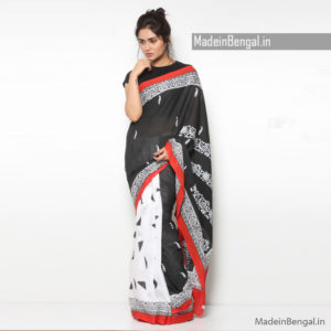 Block Kantha Saree