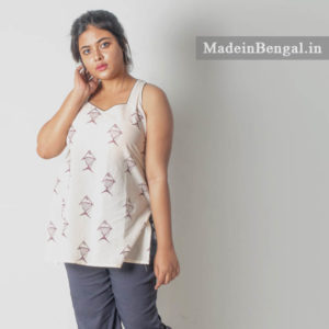 Too Machch Khadi Cotton Sleeveless Top