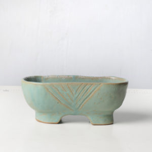 Ceramic Tub Planter in Pale Blue