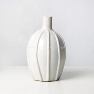White Ceramic Lined vase