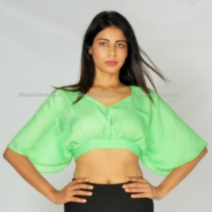 Lime Kaftan Blouse