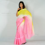 Pink Sunflower Cotton Saree