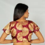 Wine Brocade Blouse