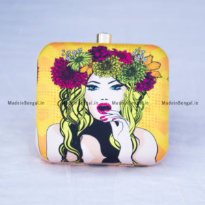 Cotton Printed Clutch