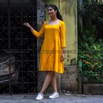 Canary Cotton Dress